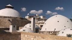 Hamam Omerye Turkish Steam Baths, Nicosia, exterior skylights Stock Footage