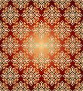 Antique ottoman turkish pattern vector design fifty five - stock illustration