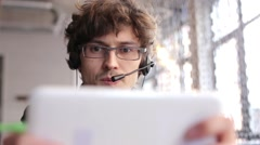 Call-Center Worker Stock Footage