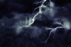 Storm Clouds and Lightning Stock Illustration
