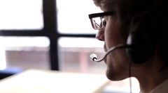 Call-Center Worker - stock footage