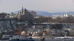 Quebec City wiev from Levis 21 Stock Footage