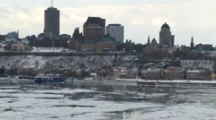 Quebec City wiev from Levis 11 Stock Footage