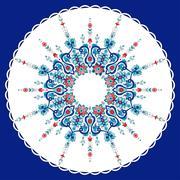 Antique ottoman turkish pattern vector design seventy eight Stock Illustration