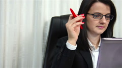 Woman Working - stock footage