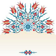 Antique ottoman turkish pattern vector design ninety Stock Illustration