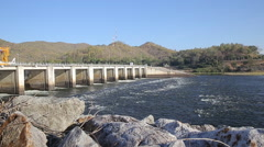 Bhumibol Dam Hydro Power Electric Dam in Thailand, Tak Province, Thailand. Stock Footage