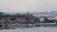 Quebec City wiev from Levis 19 Stock Footage