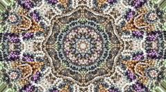 Abstract Kaleidoscope Pearl jewelry mix Stock Footage