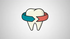 4K - Dentist icon symbol round logo Stock Footage