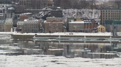 Quebec City wiev from Levis 7 Stock Footage