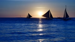 Sunset sailing UHD - stock footage