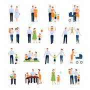 Family Icons Set - stock illustration
