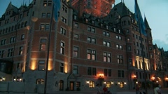 Historic District of Old Quebec 3 Canada Stock Footage