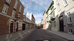 Quebec City by car 1 Stock Footage