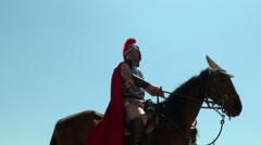 roman cavalry - stock footage