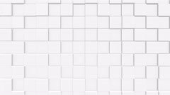 White Cube background 4K. 100 loop Stock Footage