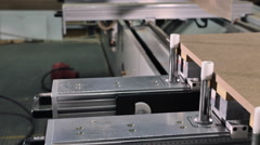 Pan of milling cutting wood machine Stock Footage