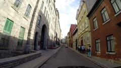 Quebec City by car 4 Stock Footage