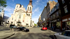 Quebec City by car 6 Stock Footage