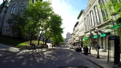 Quebec City by car 9 Stock Footage