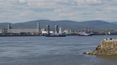 Quebec City wiev from water 1 Stock Footage