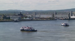 Quebec City wiev from water 2 Stock Footage