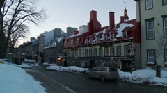 Quebec City Historic center 8 Stock Footage