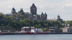 Quebec City wiev from Levis 24 Stock Footage