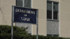 Sign, Department of State building, Washington, DC Stock Footage