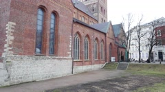Old cathedral in the city Riga, Latvia Stock Footage