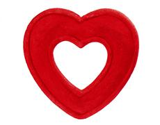 Artificial Red Heart On  White Background - stock photo