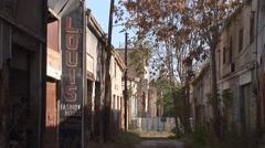 Shop sign frozen in time in Greek - Turkish Cypriot disputed territory Stock Footage