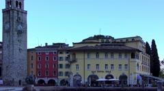 4K footage recorded on  in Riva del Garda, at Lake Garda in Italy Stock Footage