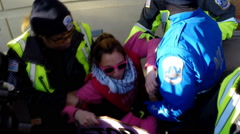 Arrest and civil disobedience at a Donald Trump rally  - stock footage