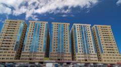 Modern new towers in Ajman timelapse hyperlapse. Cityscape of Ajman Stock Footage