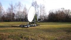Satellite dish with sun lights - stock footage