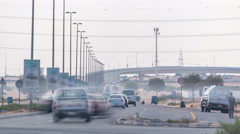 Highway roads with traffic timelapse in a big city from Ajman to Dubai before Stock Footage