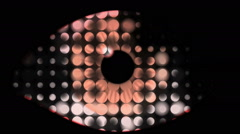 Vj Loops Eye Visual Eyeball Animation Purple Orange - stock footage