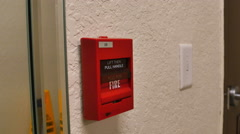 Fire Alarm Switch that Needs to be Pulled, 4K - stock footage