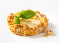 Mini Sbrisolona - Italian cornmeal cookie with almonds Stock Photos