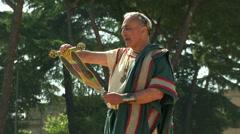 Roman orator Stock Footage