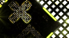 Golden Space Cross Stock Footage