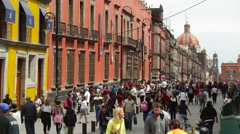 Zocalo street in Mexico - stock footage