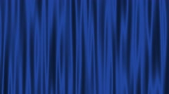 Curtain felt velvet waving fabric motion background loop blue Stock Footage
