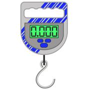 Digital Portable Weighing Scale - stock illustration