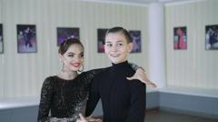 Professional dancers dancing in ballroom. Latin. 4K Stock Footage