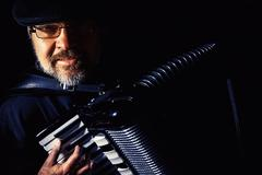 Accordion Player Portrait - stock photo