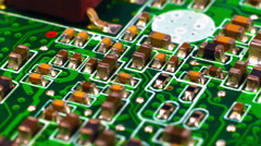 Circuit Board With Microchips - stock footage