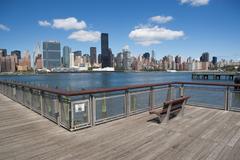 Pier on East River, New York City, USA Stock Photos